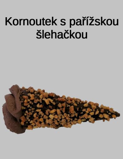Kornoutek s pařížskou šlehačkou - Cukrárna Jiřina
